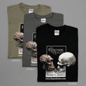 Evolution T Shirt Black, Charcoal Gray and Khaki