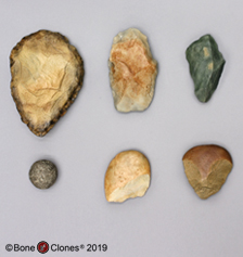 Set of 6 Fossil Hominid Tools
