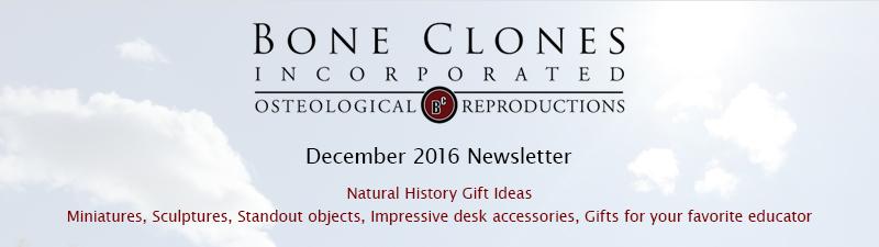 Bone Clones December 2016 Newsletter